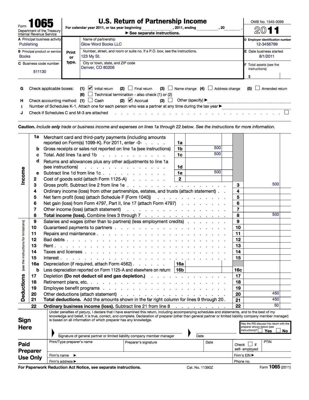 How to fill out an LLC 1065 IRS Tax form